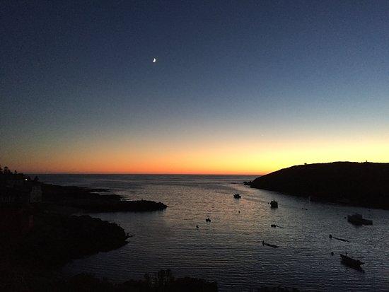 Monhegan Island, ME: Moonrise over Monhegan and Manana