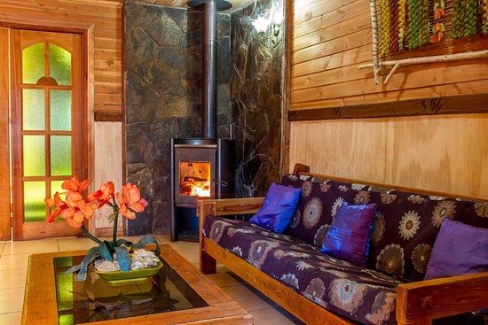 Hostel Pucon Sur: Sala TV