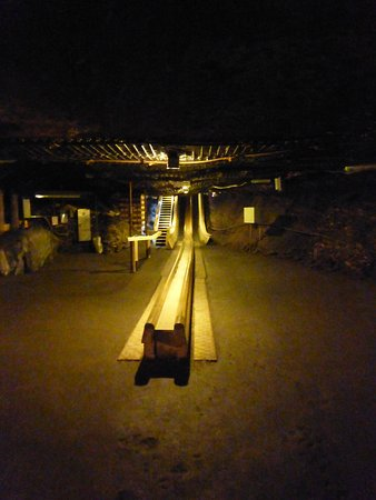 Salzbergwerk Berchtesgaden: One of the wooden slides in the salt mine