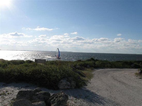 Palmetto, FL: Windsurfer at the point