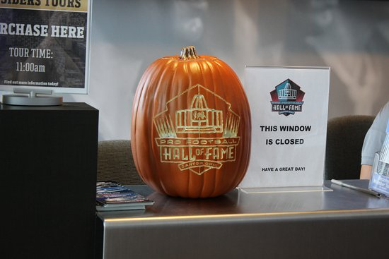 Canton, OH: Cool Hall of Fame Pumpkin