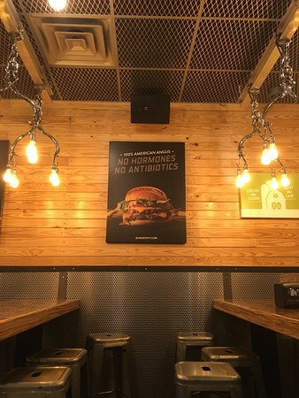 New burger place in area picture of burgerfi woodbridge tripadvisor for Interiors modern home furniture woodbridge va