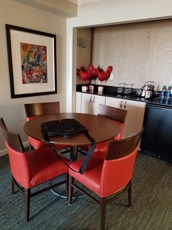 Sheraton Sand Key Resort: Small Table, Mini Fridge And Coffee Maker