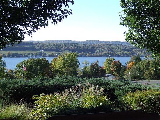 Penn Yan, estado de Nueva York: View of Keuka Lake from Rooster Hill