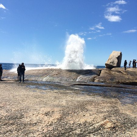 Bicheno, Australia: The Biceno Blowhole....