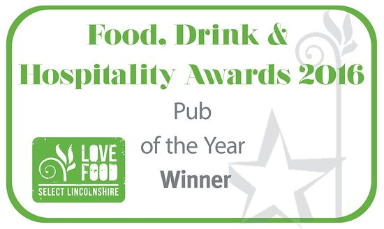 Louth, UK: Proud to have received the Pub of Year award from Select Lincolnshire