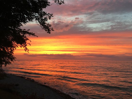 Sunset on Lake Ontario, Oswego, NY
