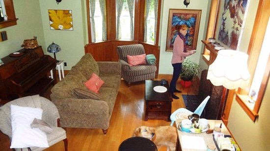 Gabriola Island, Canada: Very cozy and comfortable common Living Room