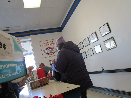 Rumford, RI: That is me buying two loaves of wheat bread.