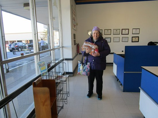 Rumford, RI: That is me carrying our two loaves of bread.