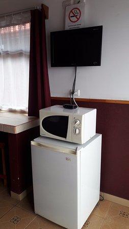 Grecia, Kostaryka: Dentro de la habitacion: microondas, tv.
