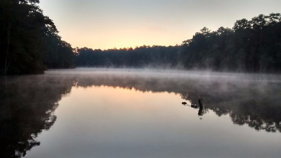 Sunrise at reservoir