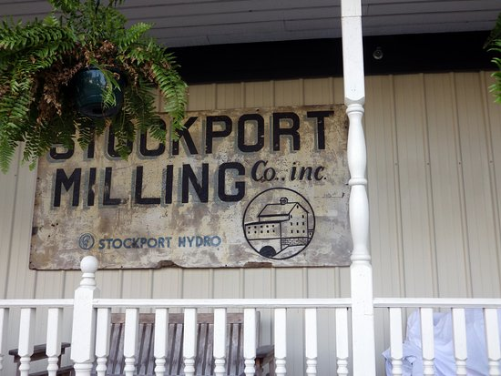 Stockport, OH: The old Mill sign