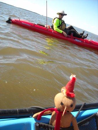Fernandina Beach, FL: Even creepy guys enjoy kayaking with Amelia Island Kayak Excursions!