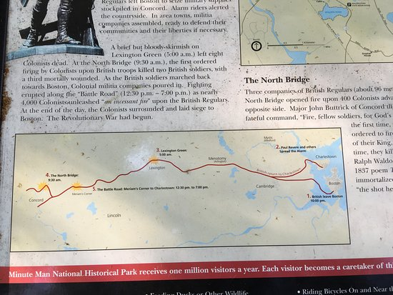 North Bridge map Picture of Minute Man National Historical Park