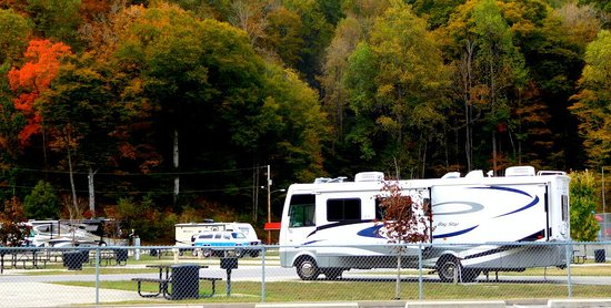 Pikeville, KY: RV park as seen from parking lot