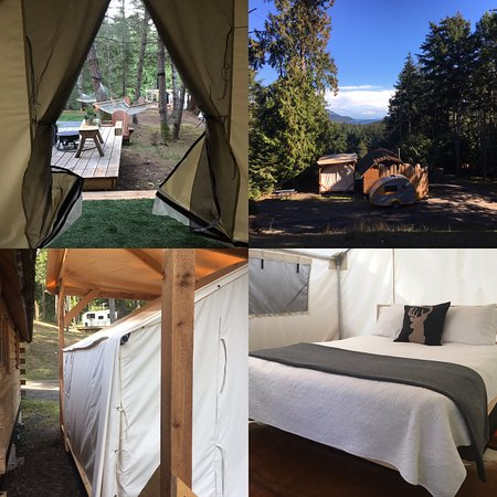 Pender Island, Canadá: We have 3 Glamping Tents with Airstream 4 and 6 and Cabin 3.