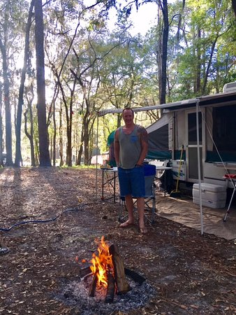 Live Oak, FL: Our camp site during our stay.