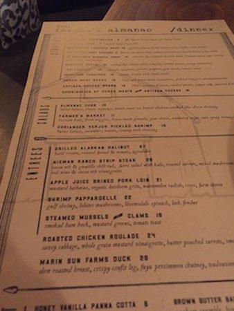 Danville, Californien: menu