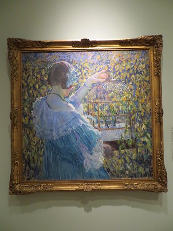 New Britain, CT: Frederick Carl Frieseke The Bird Cage circa 1910