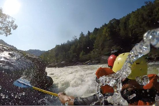 Lansing, WV: Just try to touch Pillow Rock with you paddle. Harder than it looks!