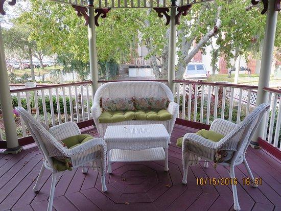The Cedar House Inn: One section of the porch