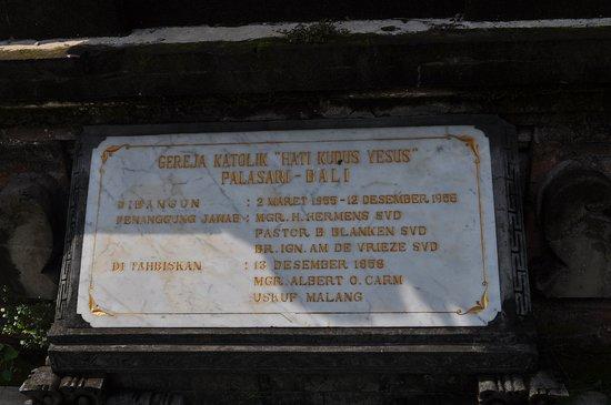 Jembrana, Indonesia: Papan Gereja
