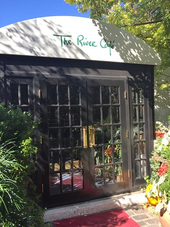 The River Cafe: There is a beautiful garden out in front of The River Cafe.
