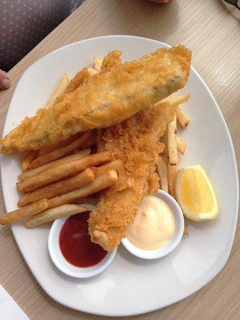 Papamoa, Νέα Ζηλανδία: Delicious fish and chips