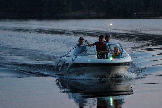 Voyageurs National Park, MN: Boys coming back in from evening fishingE