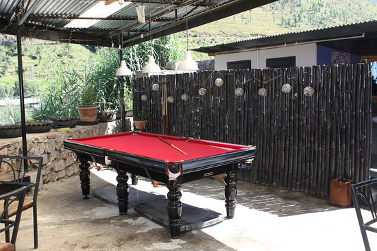 outdoor patio pool table picture of chha bistro bar thimphu