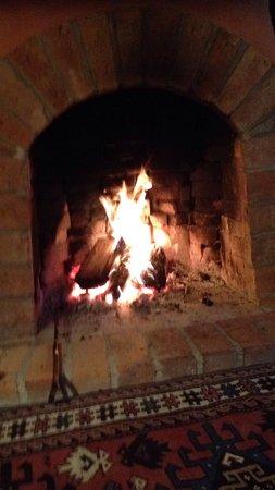 Motueka, Nueva Zelanda: Cosy fire