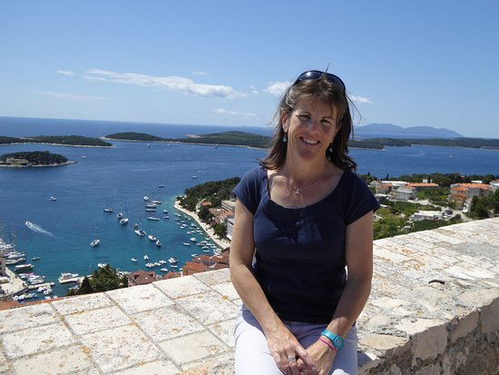 Hvar, Kroatia: lovely day at the fortress!
