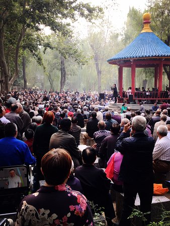 Opera performance at Chang'an Park, Shijiazhuang