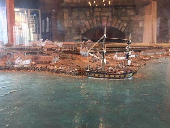 Youngstown, estado de Nueva York: Beautiful historical model of Old Fort Niagara