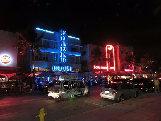 The Colony Hotel: 夜はネオンが素敵です!