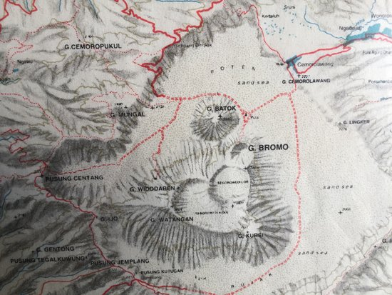 Topo Map Found At A Restaurant Along The Highway To Bromo Picture - Mt topo maps
