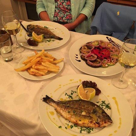 Limni Keri, Grecia: Black Snapper & delicious vegetables