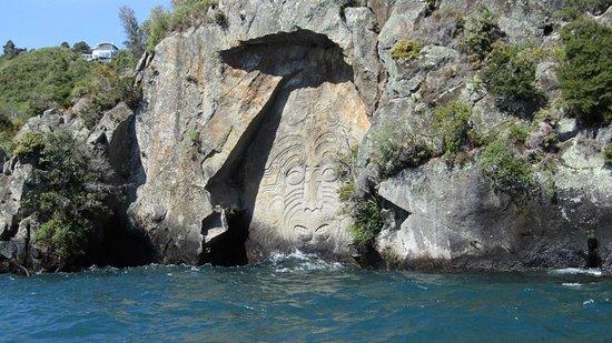 Taupo, Nueva Zelanda: carvings