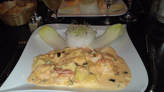 Dourdan, Francia: Fricassée de crevettes à l'annas