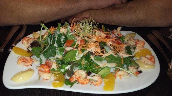 Dourdan, Francia: Salade d'écrevisses