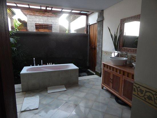 Visesa Ubud Resort Partially Open Bathroom
