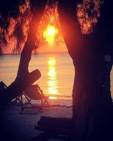 Michamvi Sunset Bay Resort: Sunset from the bar