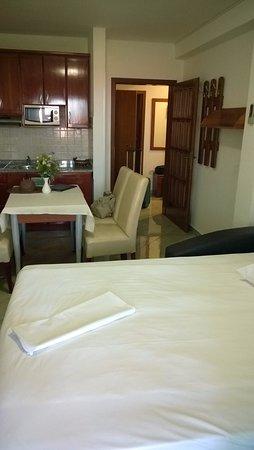 Soggiorno con divano letto ed angolo cottura - Picture of Villa ...