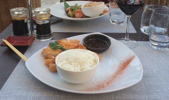 Good food, beautiful terrasse, good service