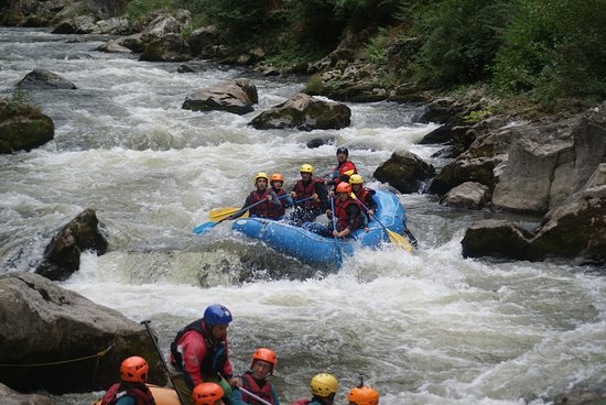 Axat, Francia: Rafting in action