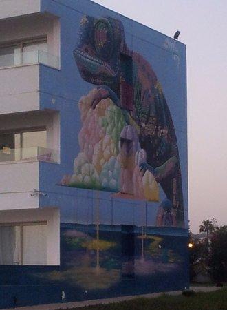 Street Art in Ayia Napa: Down by the beach