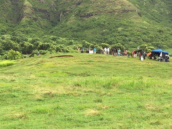 Kaneohe, Havai: Live film set of new Jumanji