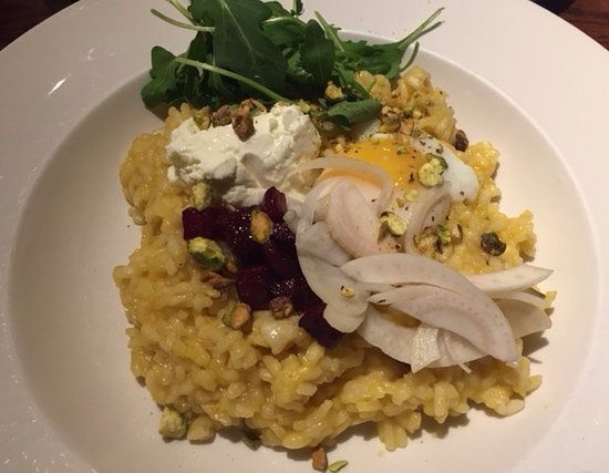Clementine Cafe : Butternut Squash Risotto with goat cheese, beets and fennel