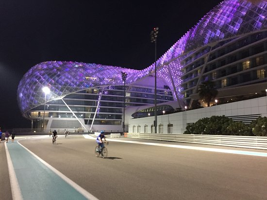 Yas Marina Circuit: Going under the Yas Viceroy Hotel